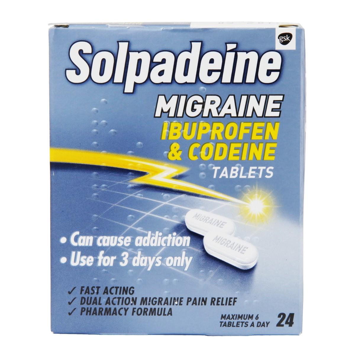 Solpadeine Migraine Ibuprofen & Codeine Tablets 200mg