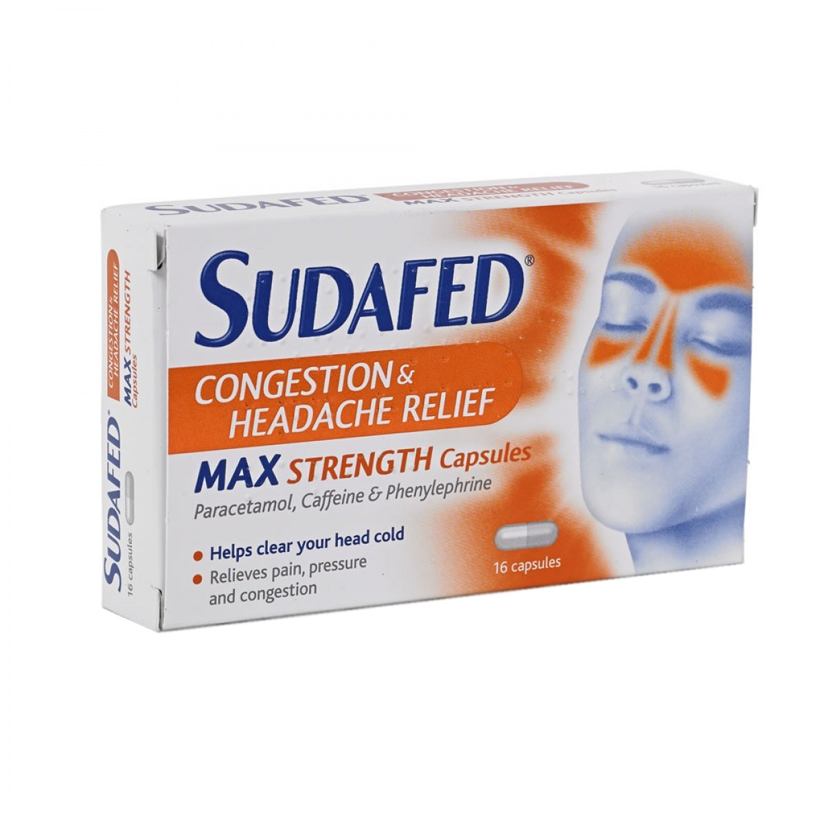 Sudafed Congestion & Headache Relief Max Strenght Capsules