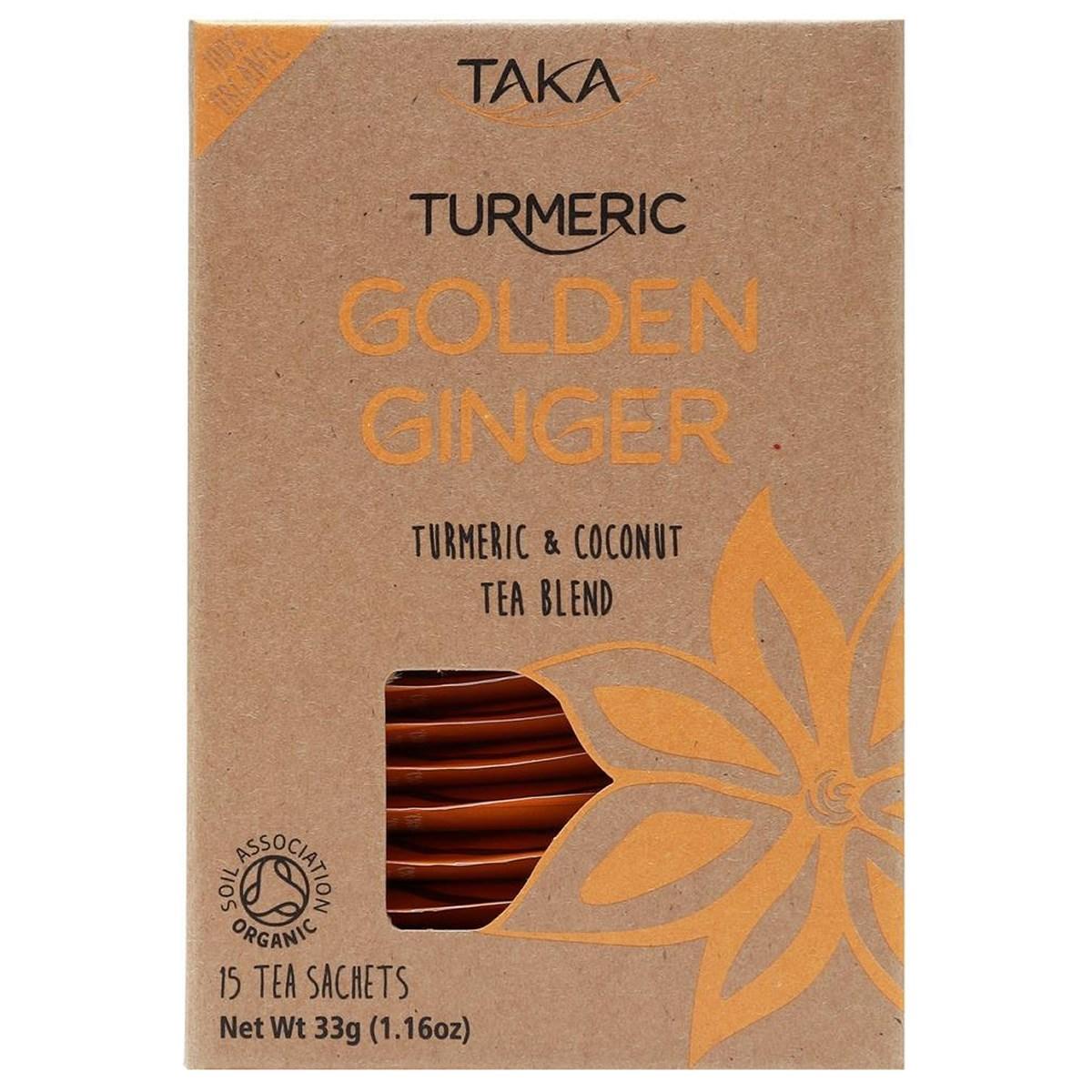 Taka Turmeric Golden Ginger Turmeric & Coconut Tea Blend