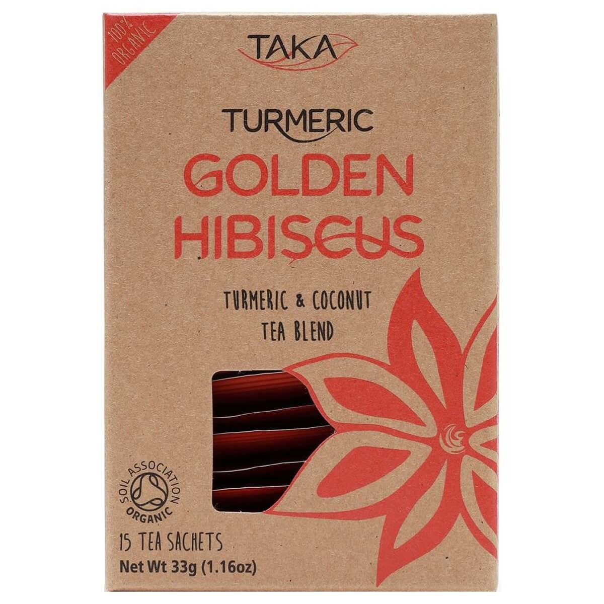 Taka Turmeric Golden Hibiscus Turmeric & Coconut Tea Blend