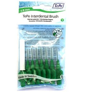 Tepe Interdental Brush Green 0.8mm Pack of 8