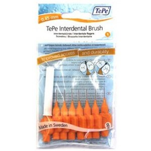 Tepe Interdental Brush Orange 0.45mm Pack of 8