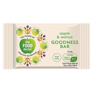 The Food Doctor Apple & Walnut Goodness Bar