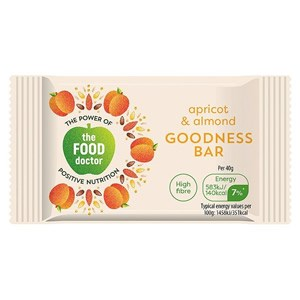 The Food Doctor Apricot & Almond Goodness Bar