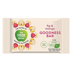 The Food Doctor Food Fig & Mango Goodness Bar