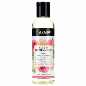 Tisserand Rose & Geranium Leaf The Body Wash