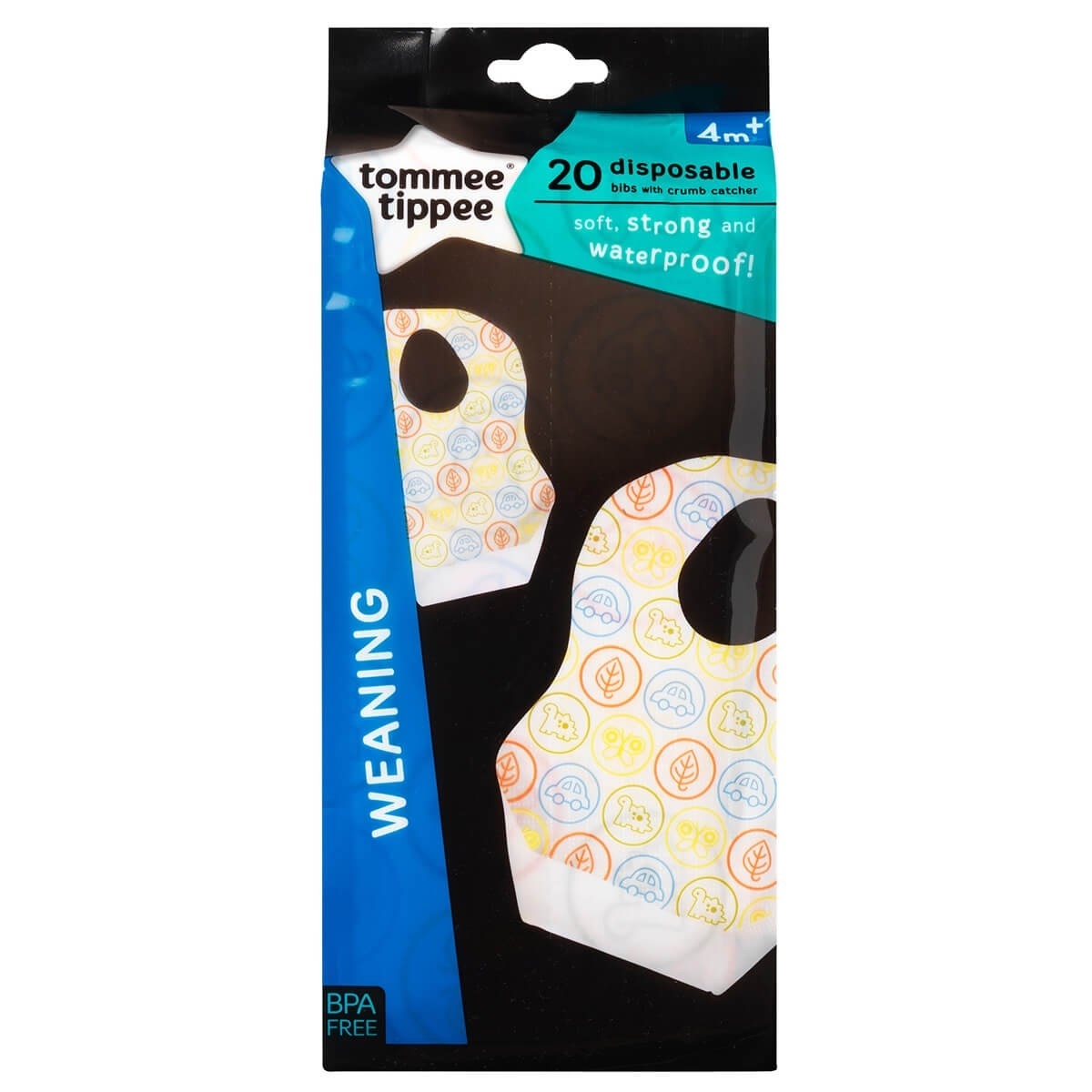 Tommee Tippee 20 Disposable Bibs with Crumb Catcher (4m+)