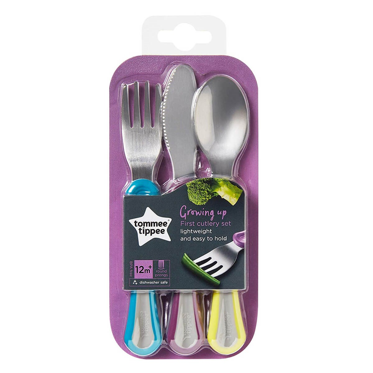 Tommee Tippee Active First Grown Up Cutlery Set (12m+)