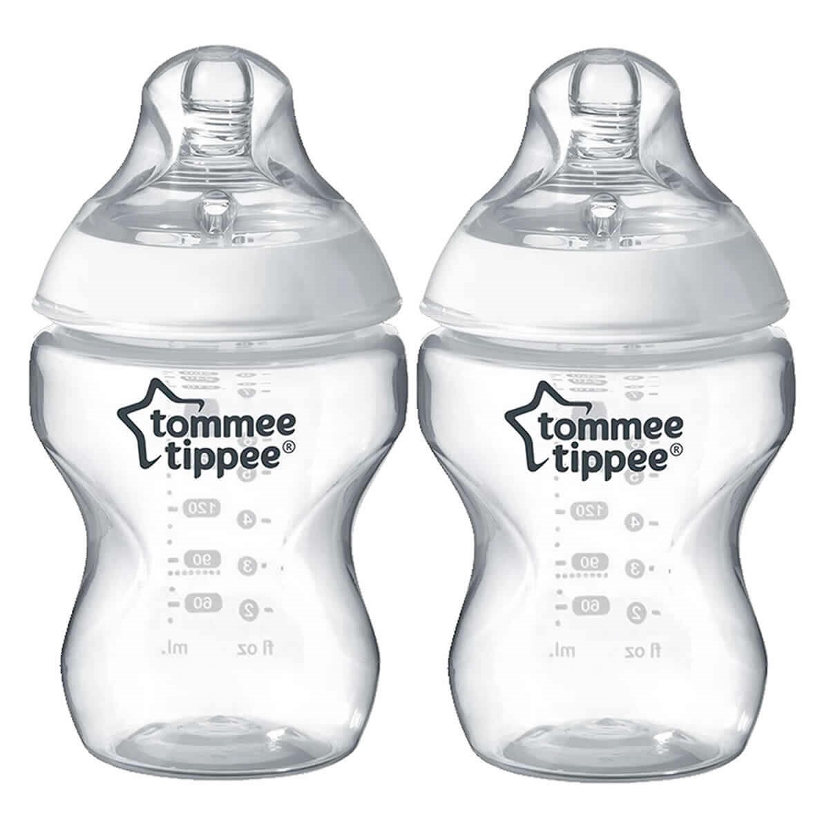Tommee Tippee Closer to Nature Feeding Bottles (0m+) 260ml