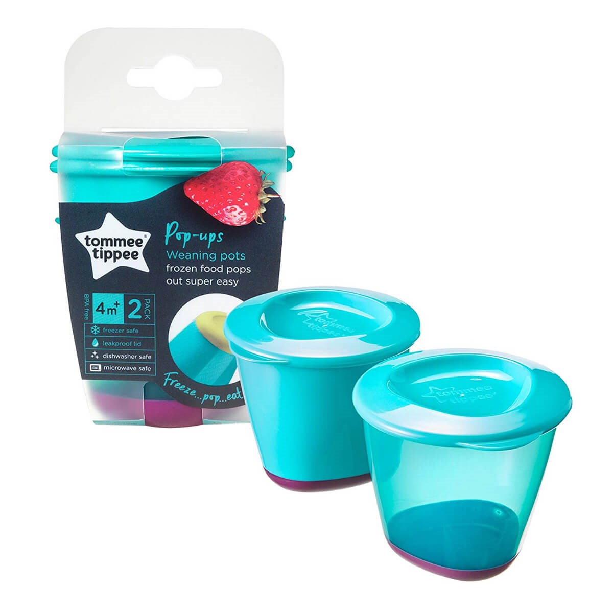 Tommee Tippee Pop-Ups 2 Weaning Pots (4m+)