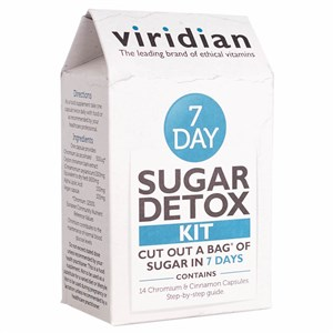 Viridian 7 Day Sugar Detox Kit 14 Chromium & Cinnamon Capsules