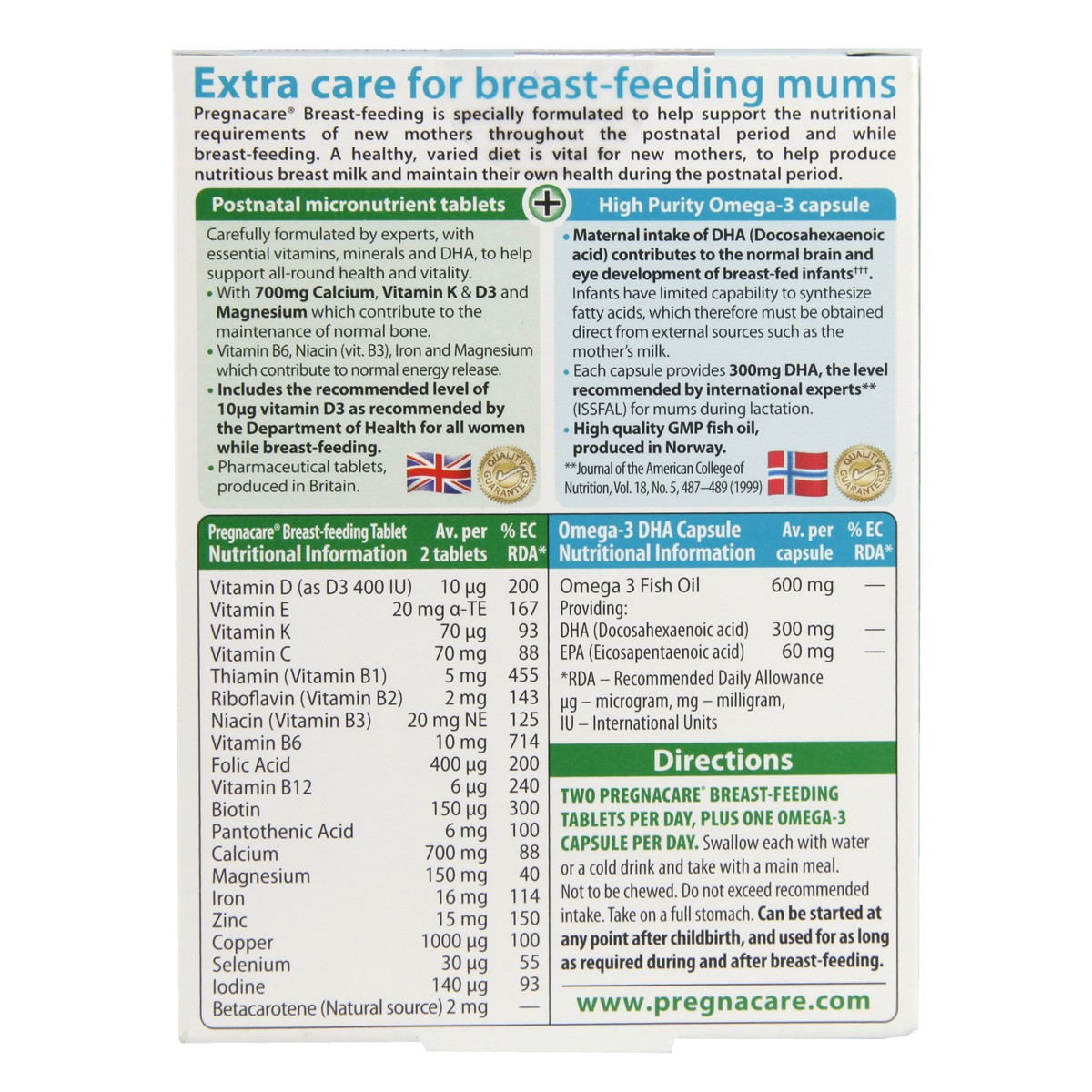 Vitabiotics Pregnacare Breast-feeding