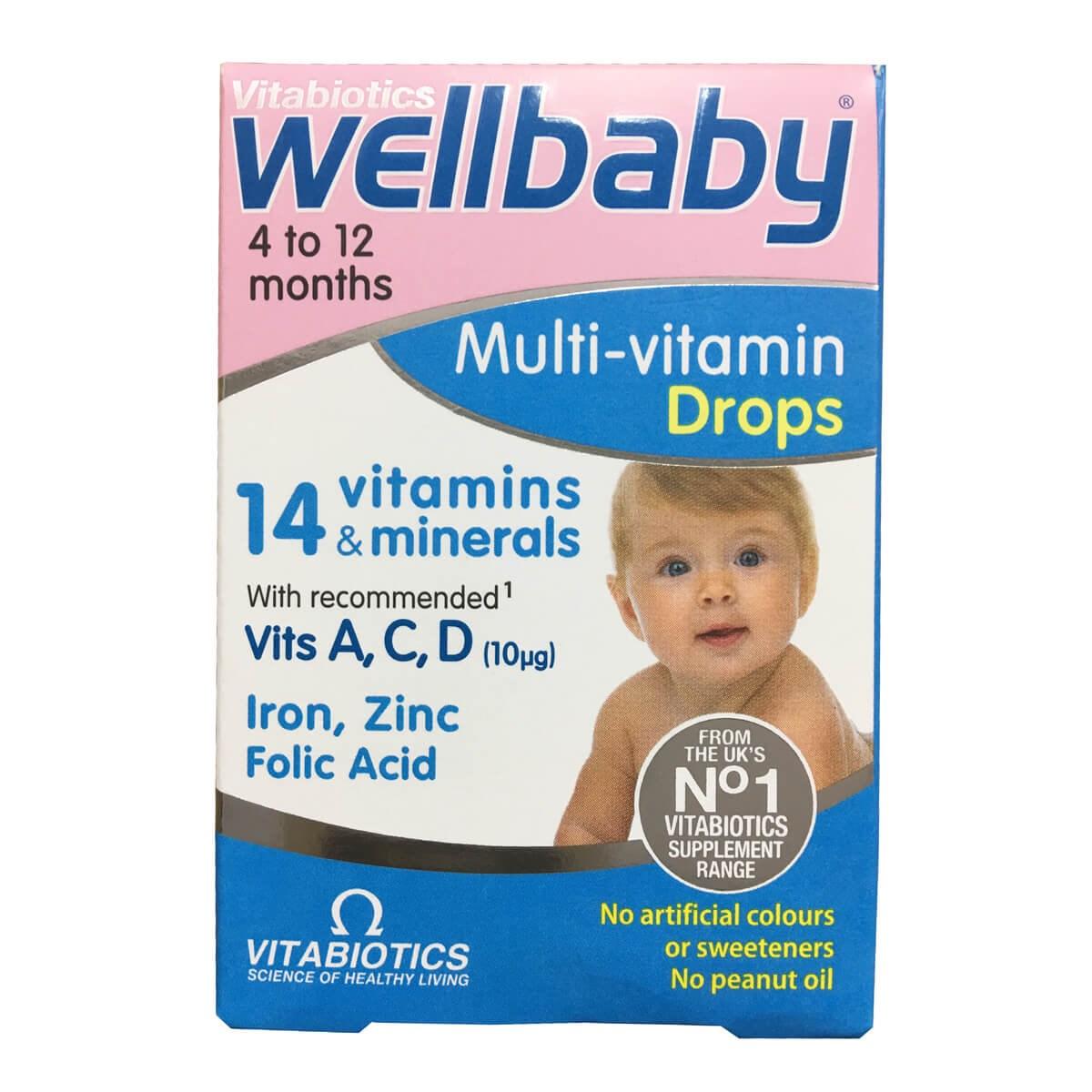 Vitabiotics WellBaby Multi-Vitamins Drops