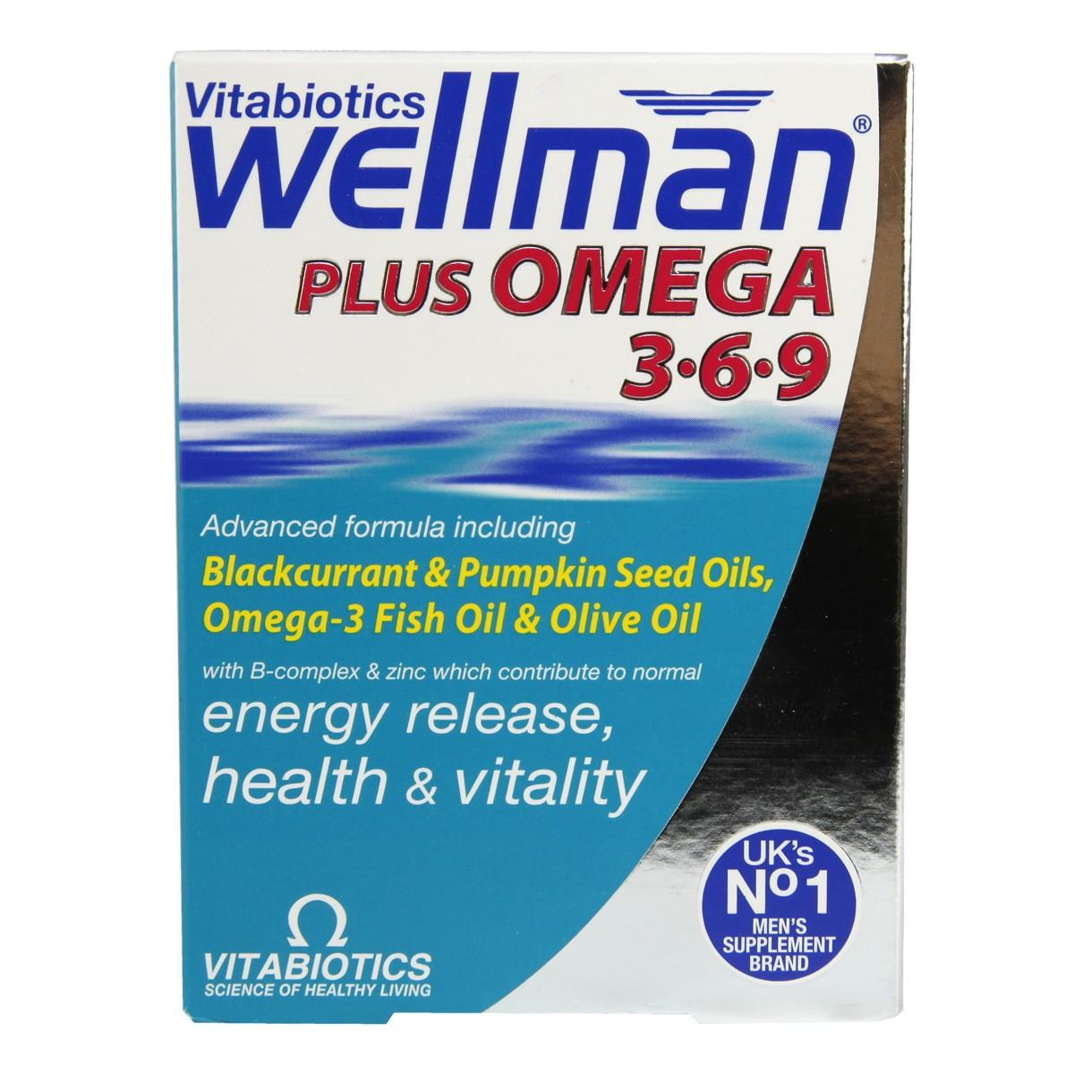Echemist Co Uk Vitabiotics Wellman Plus Omega 3 6 9