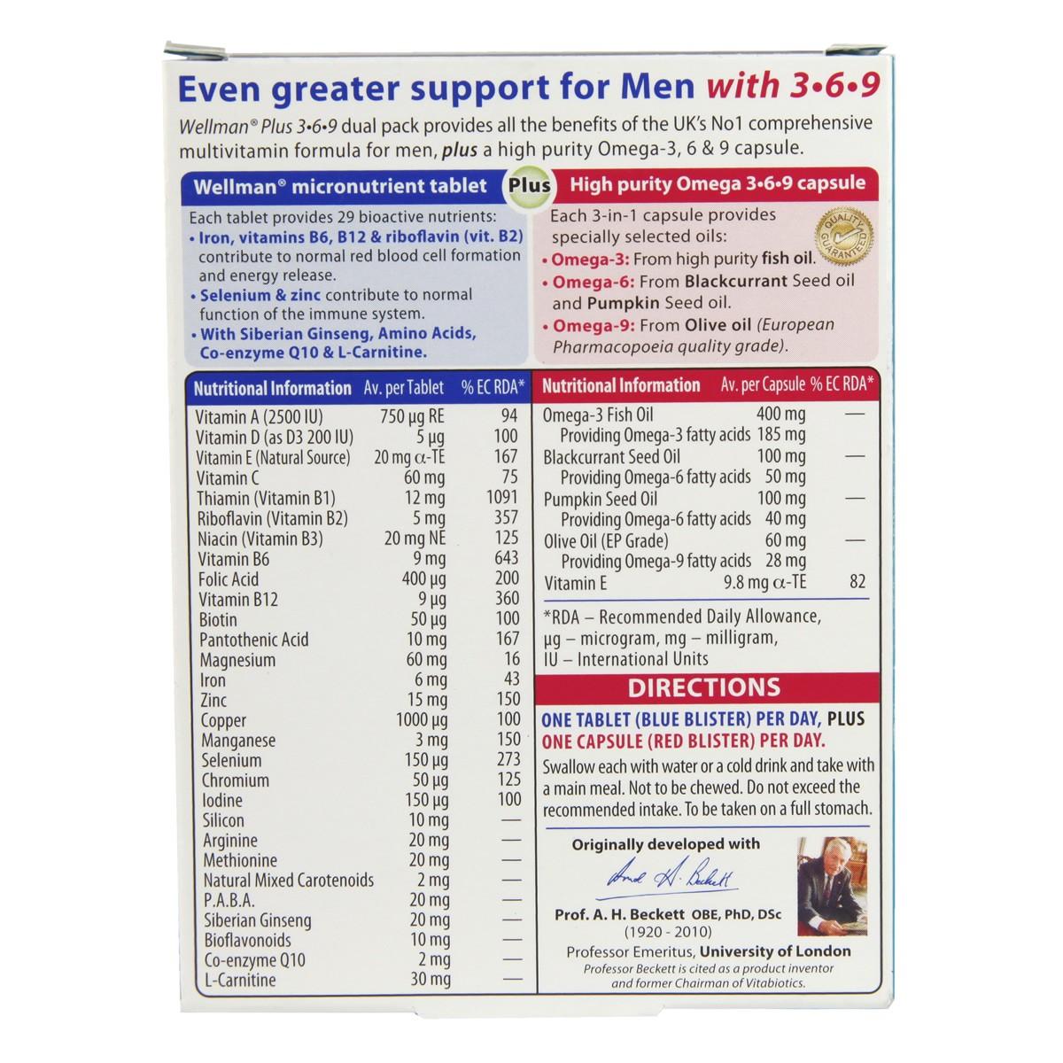 Vitabiotics Wellman Plus Omega 3.6.9