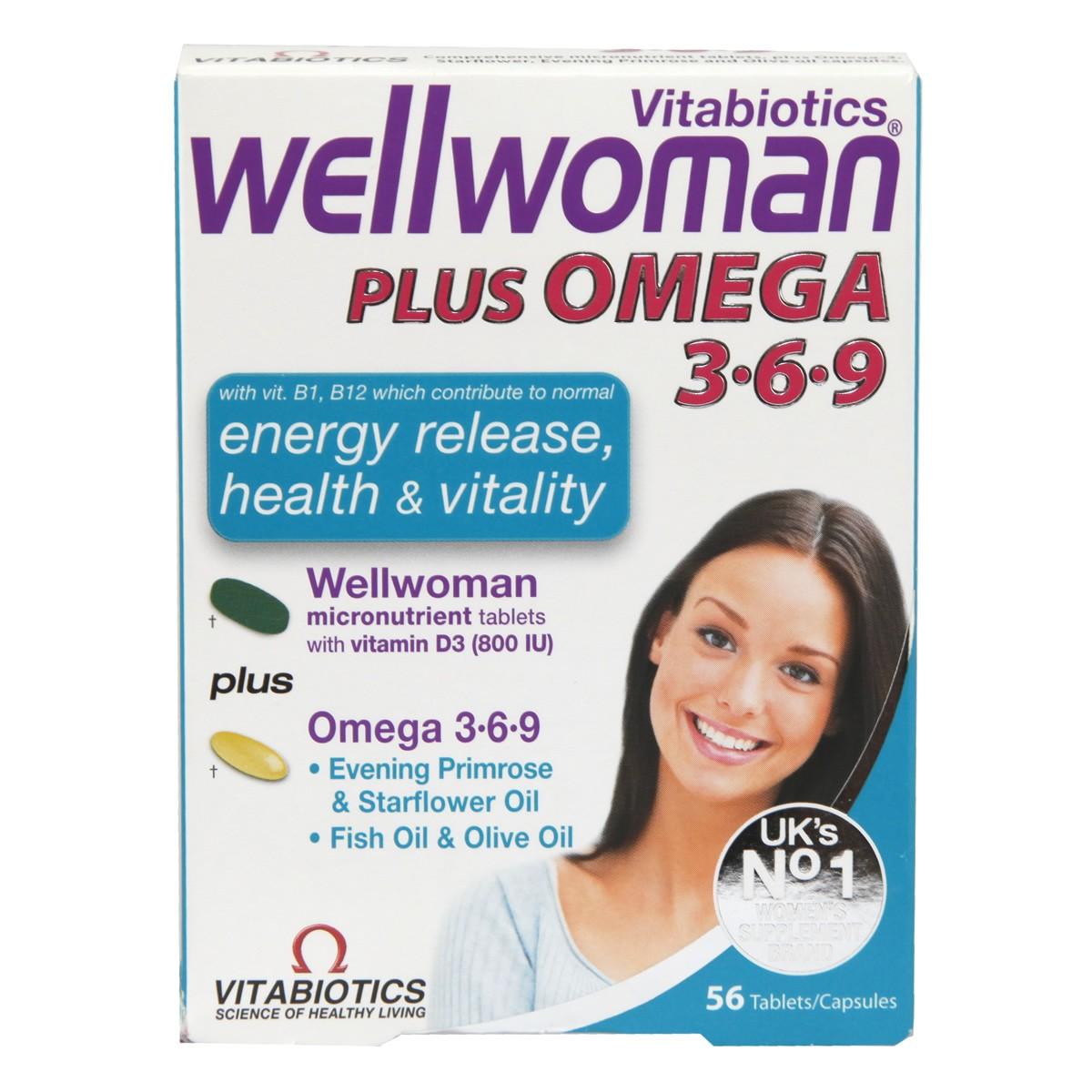 Vitabiotics Wellwoman Plus Omega 3-6-9