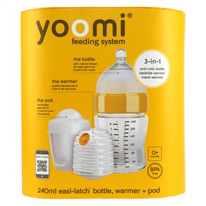 Yoomi Easi-Latch 8oz Bottle+Warmer+Pod