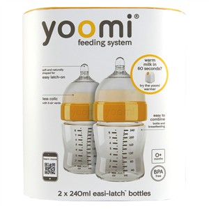 Yoomi Easi-Latch 8oz Bottles - 2x240ml